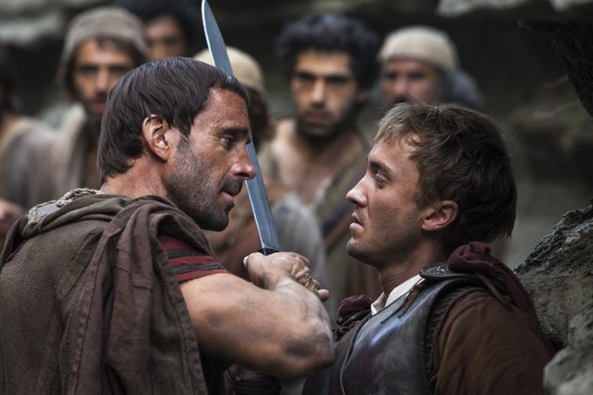 "Joseph Fiennes and Tom Felton in ""Risen."" (Photo courtesy TriStar Pictures/TNS)"