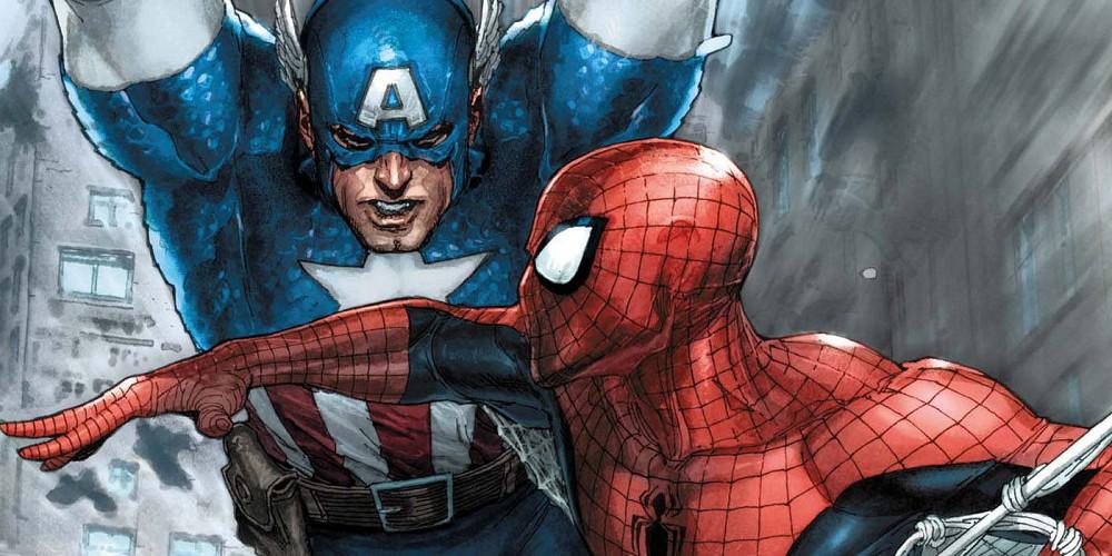 Captain-America-Spider-Man-Team