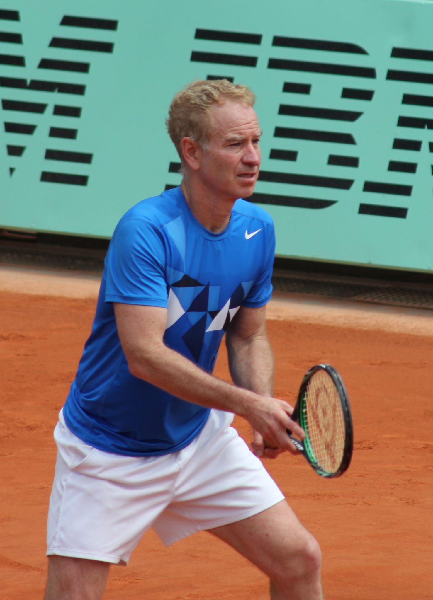 McEnroe in action.