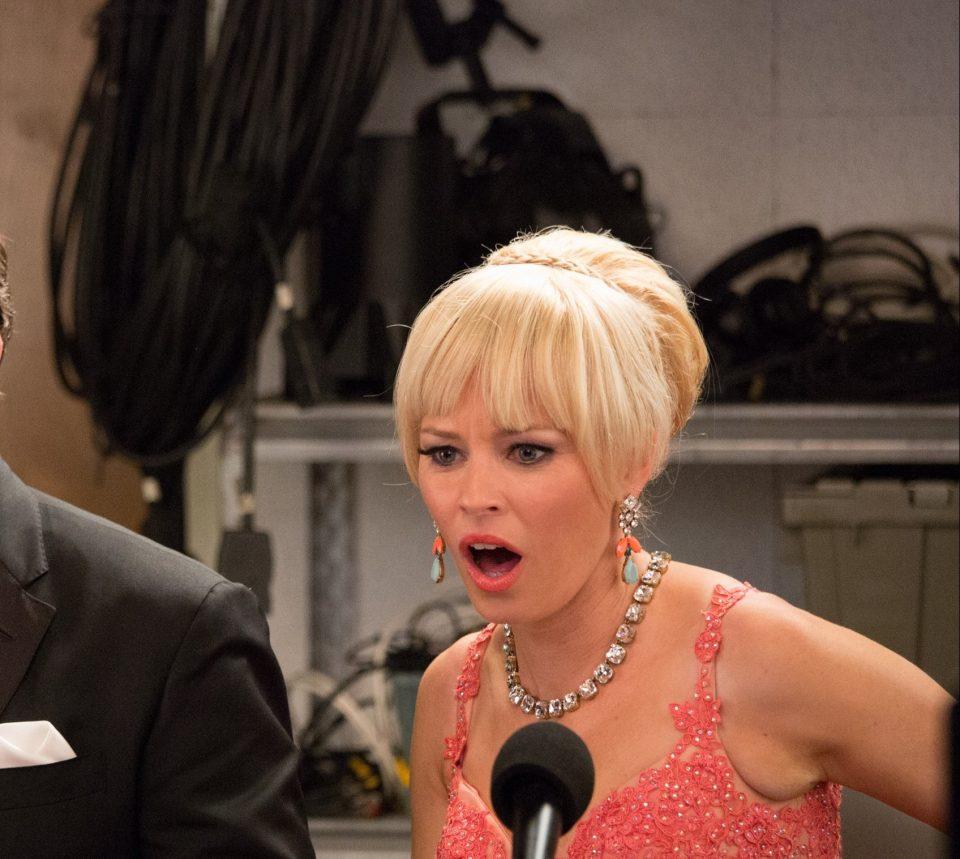 John (JOHN MICHAEL HIGGINS) and Gail (ELIZABETH BANKS) are shocked by the Barden Bellas