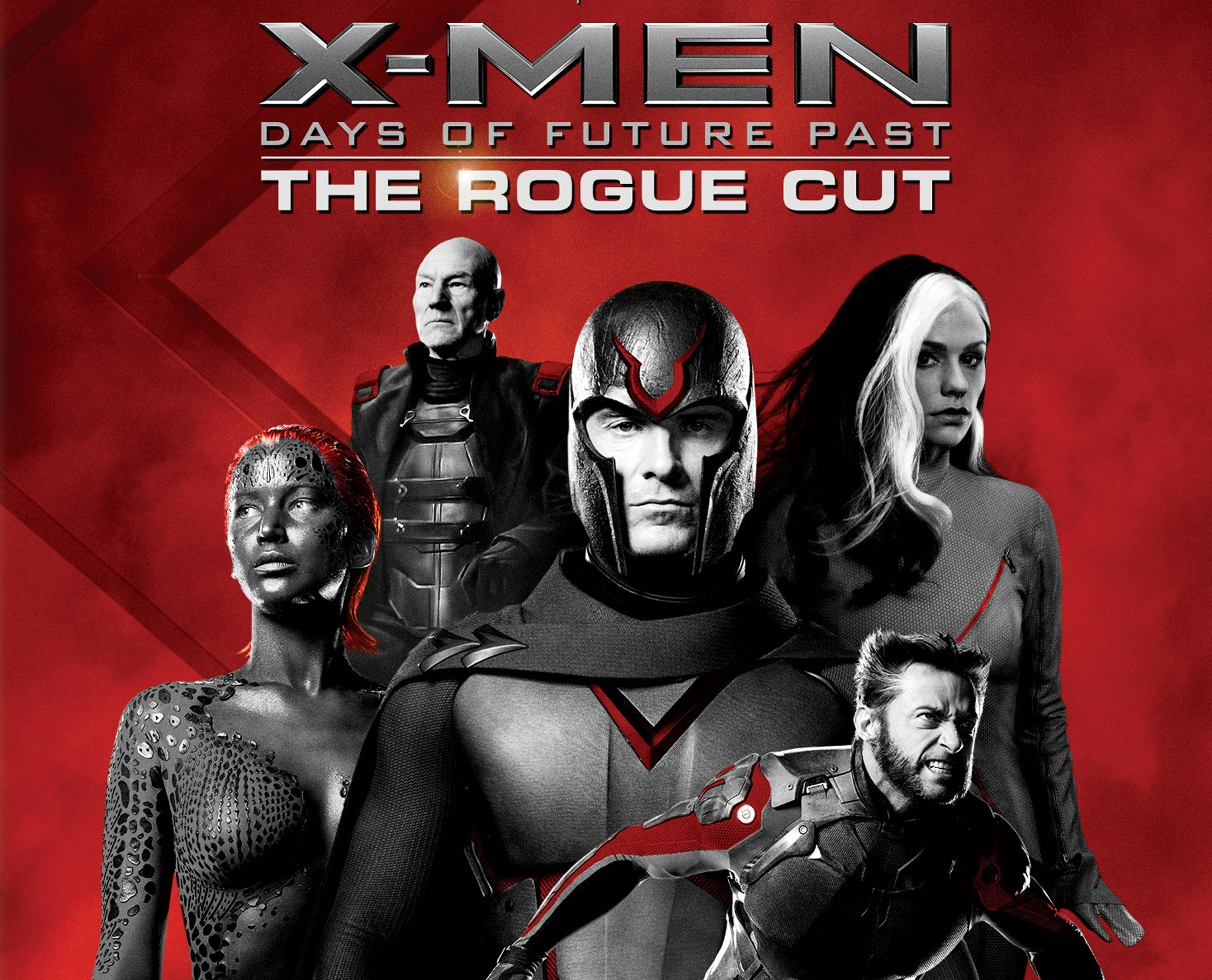 X-MEN DAYS OF FUTURE PAST: THE ROGUE CUT. (Blu-ray/DVD artwork). ©20th Century Fox.