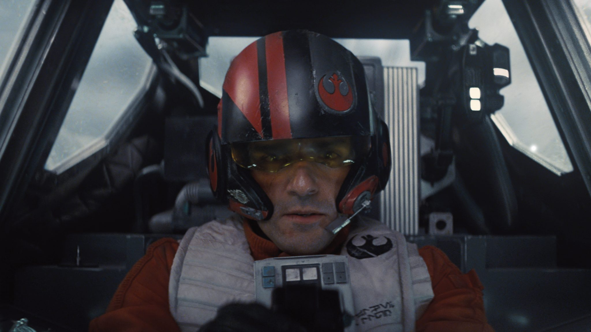Poe Dameron (Oscar Isaac) in a scene from Star Wars: The Force Awakens