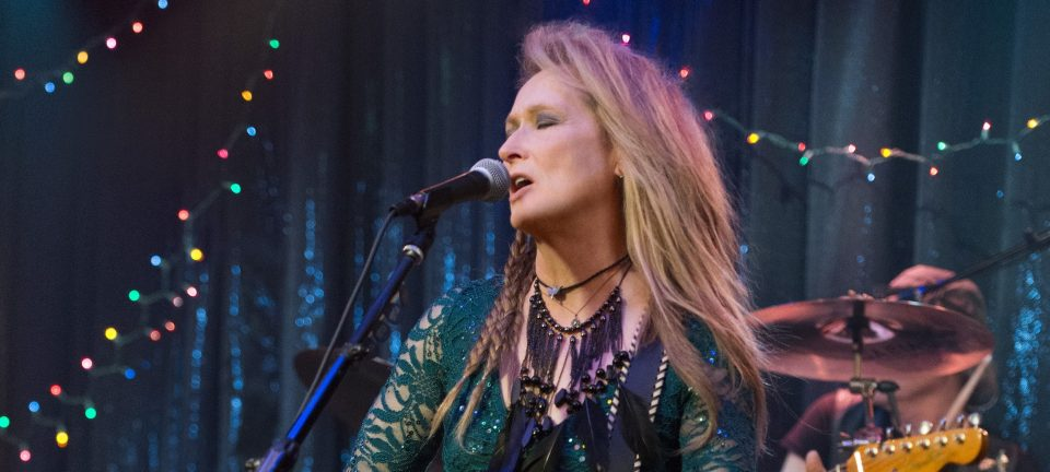 Ricky (Meryl Streep) performs at the Salt Well in a scene from Ricki and the Flash.