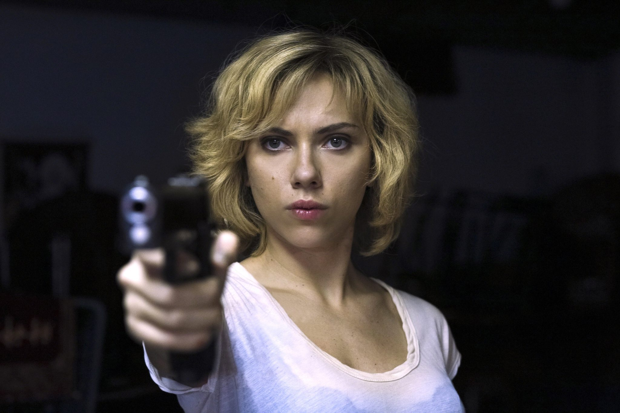 SCARLETT JOHANSSON Character(s): Lucy Film 'LUCY' (2014) Directed By LUC BESSON 08 August 2014 SAJ38503 Allstar Collection/EUROPACORP **WARNING** This Photograph is for editorial use only and is the copyright of EUROPACORP  and/or the Photographer assigned by the Film or Production Company & can only be reproduced by publications in conjunction with the promotion of the above Film. A Mandatory Credit To EUROPACORP is required. The Photographer should also be credited when known. No commercial use can be granted without written authority from the Film Company. 1111z@yx
