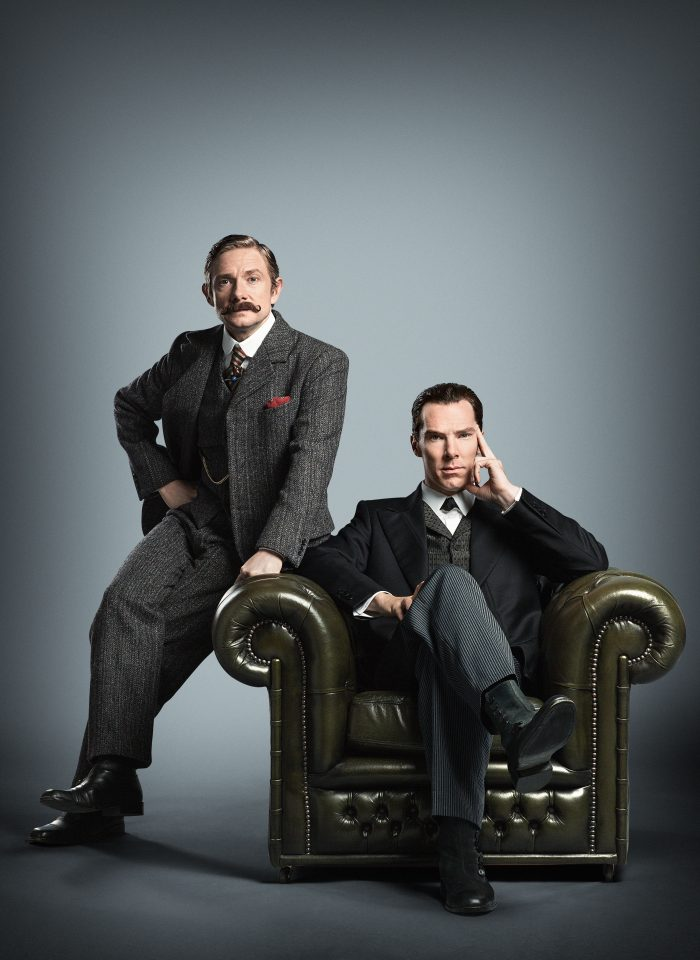 WARNING: Embargoed for publication until 09/07/2015 - Programme Name: Sherlock - TX: n/a - Episode: n/a (No. n/a) - Picture Shows: ** STRICTLY EMBARGOED UNTIL 9TH JULY AT 00:01 HRS, BST ** Ahead of a panel with Executive Producers Steven Moffat, Sue Vertue and actor Rupert Graves at San Diego Comic Con later today, a new picture of Sherlock and John Watson has been released. The image is from the forthcoming Sherlock Special, made for BBC One by Hartswood Films, transmission date TBC. Dr John Watson (MARTIN FREEMAN), Sherlock Holmes (BENEDICT CUMBERBATCH) - (C) Hartswood Films - Photographer: Robert Viglasky