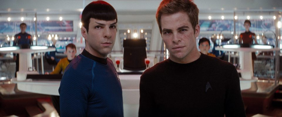 DAILY CALENDAR CENTERPIECE FOR MAY 8. 2009. DO NOT USE PRIOR TO PUBLICATION. Spock (Zachary Quinto, left) and James T. Kirk (Chris Pine, right) in the movie ÒStar Trek.Ó