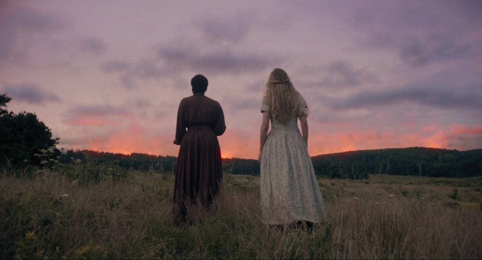 "Muna Otaru and Brit Marling in ""The Keeping Room."" (Photo courtesy Drafthouse Films/TNS)"