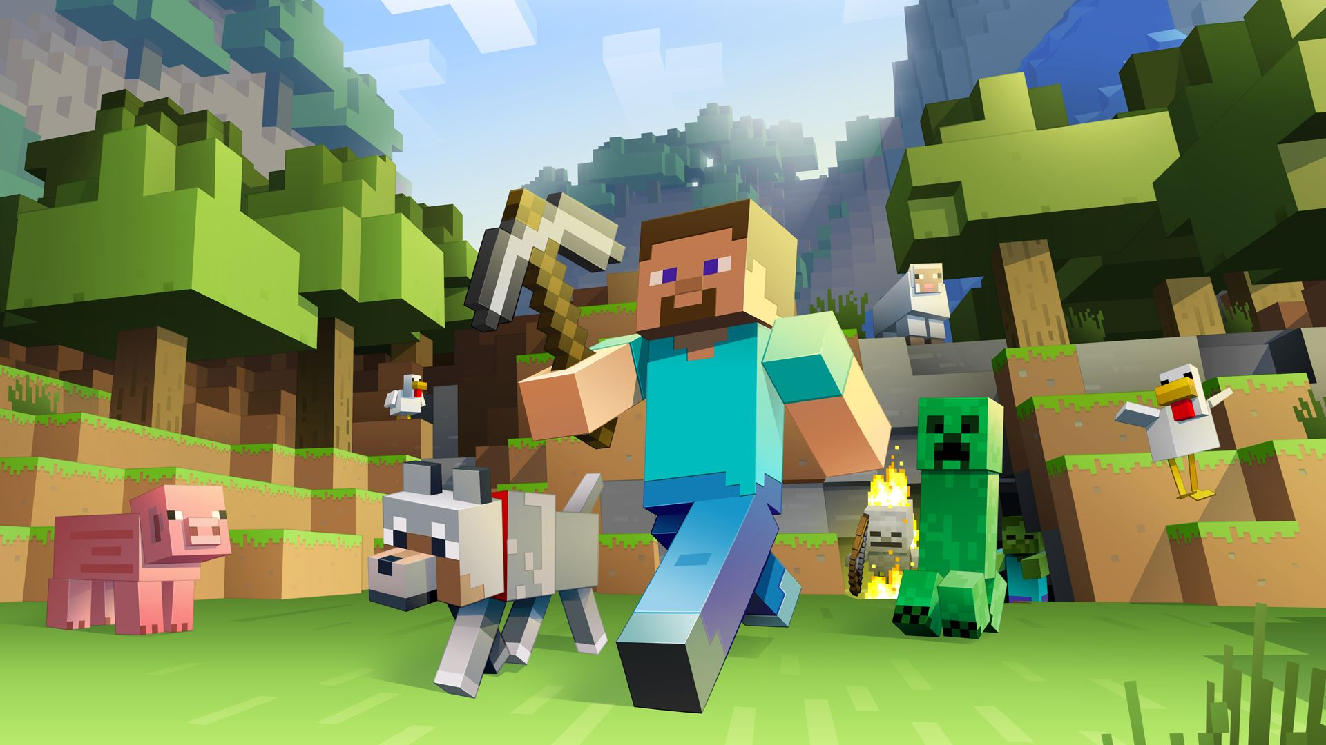 Still from Xbox One's edition of Minecraft.