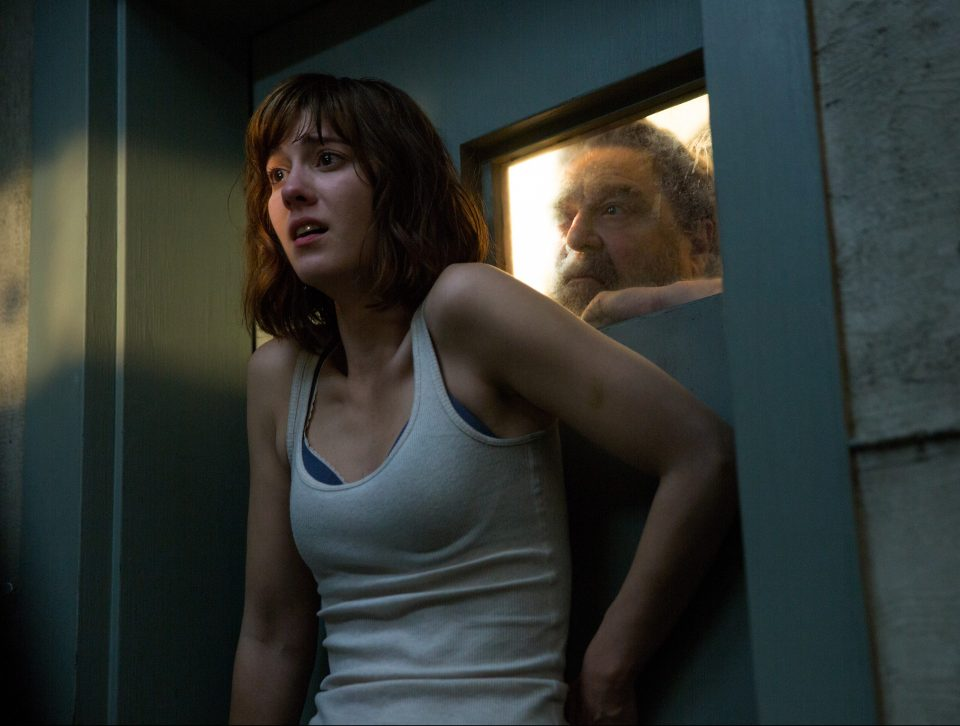 John Goodman as Henry; Mary Elizabeth Winstead as Michelle in 10 CLOVERFIELD LANE; by Paramount