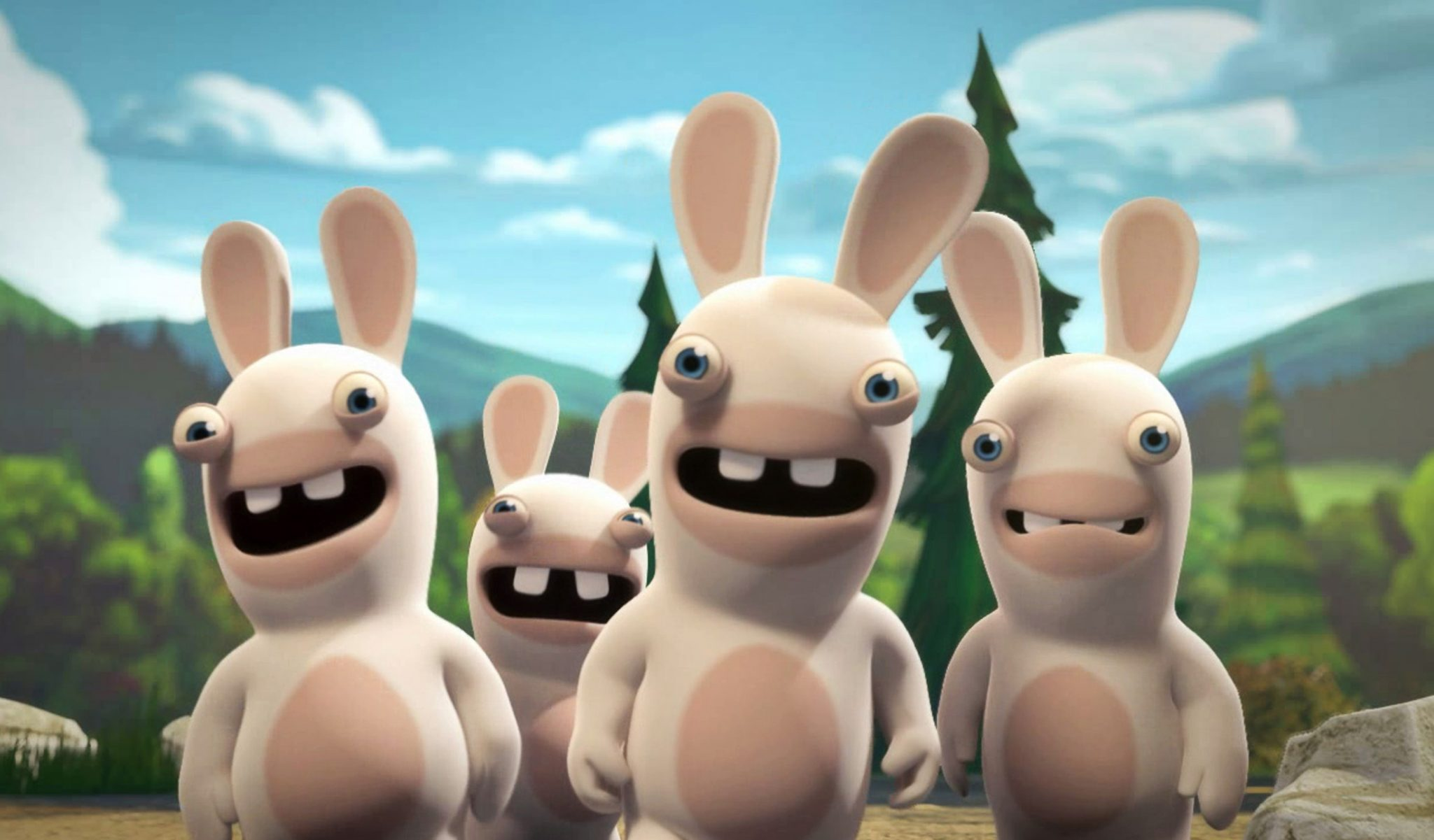 Pictured:  Rabbids in RABBIDS INVASION  on Nickelodeon.  Photo:  Nickelodeon. ©2013 Viacom, International, Inc.  All Rights Reserved