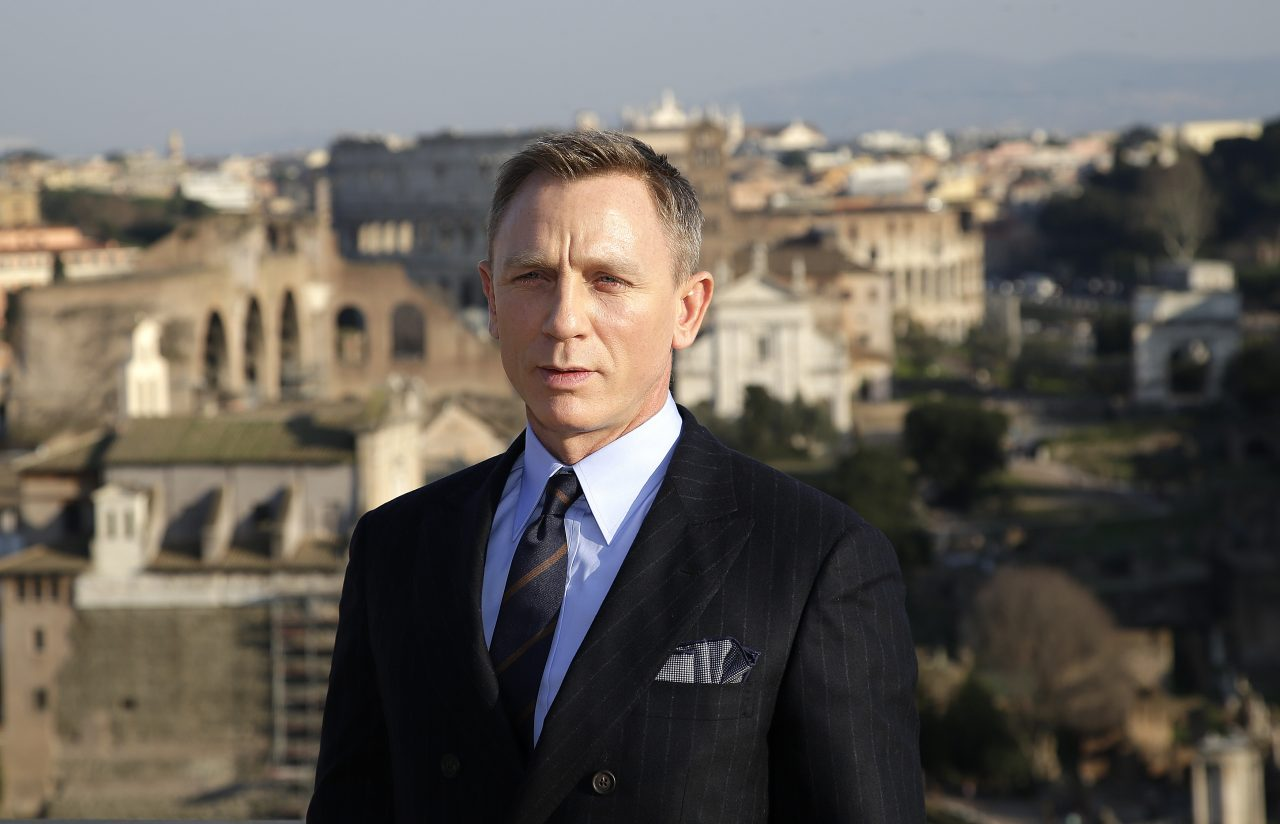 "Actor Daniel Craig poses during a photo call for the new James Bond film ""Spectre"" in downtown Rome"