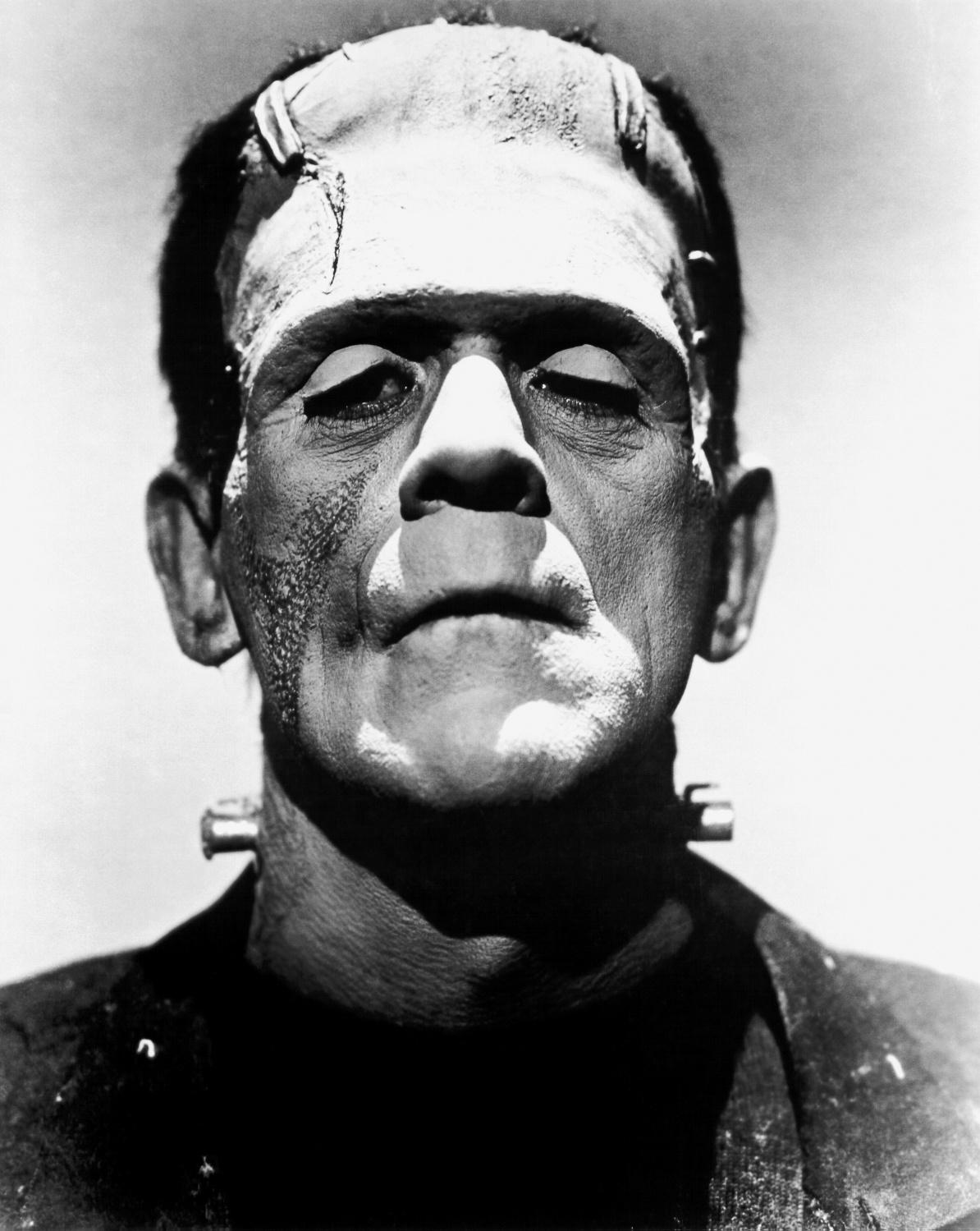 A promotional photo of Boris Karloff as Frankenstein's monster.
