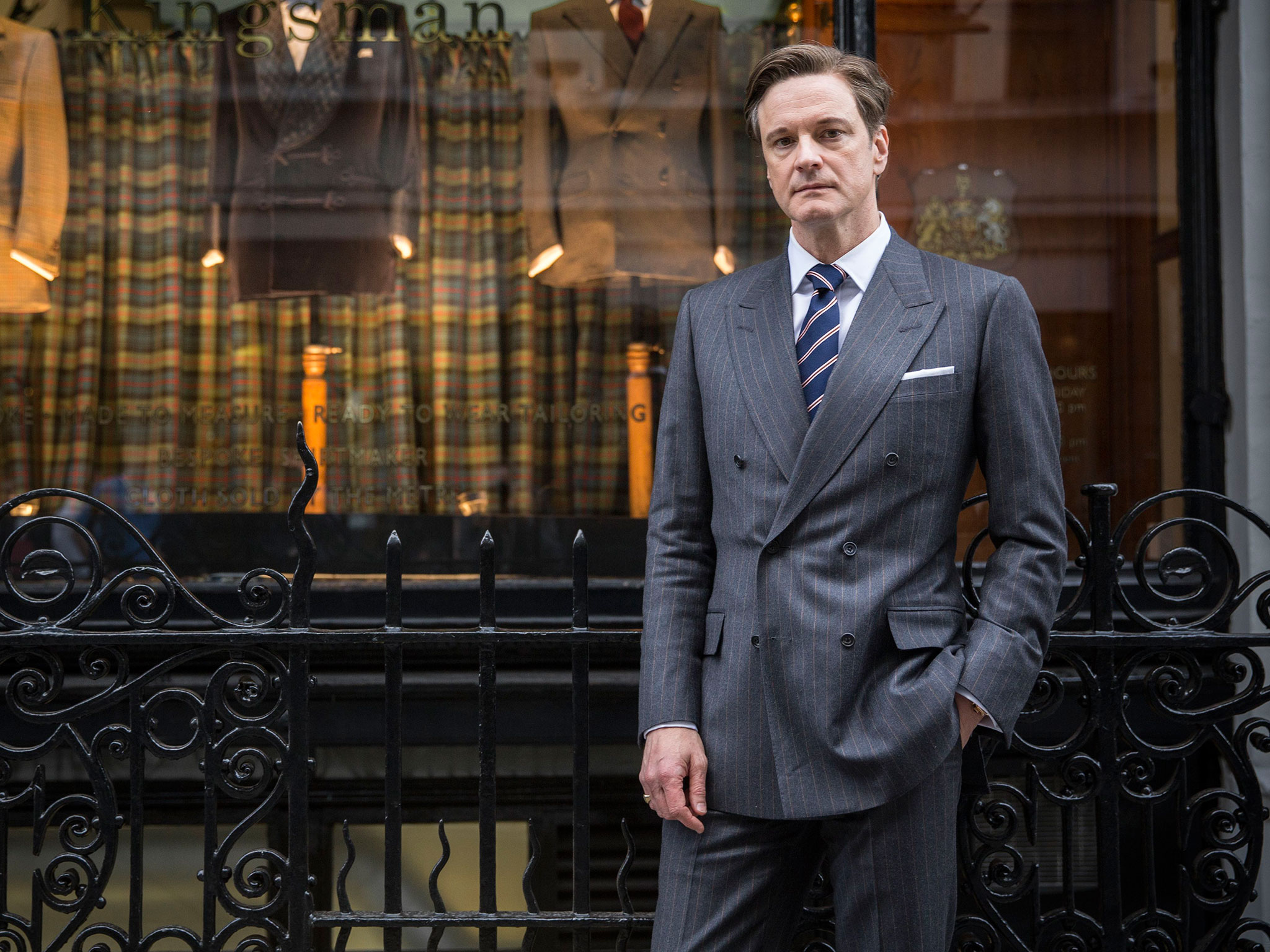 Colin Firth spotted on set of 'Kingsman: The Golden Circle'