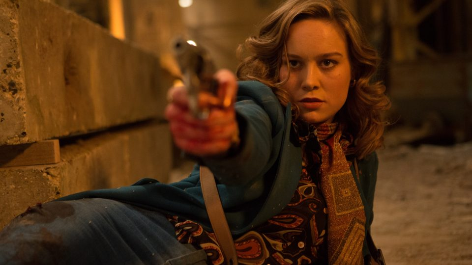 Lady of the moment, Brie Larson, gets ready to pull the trigger.