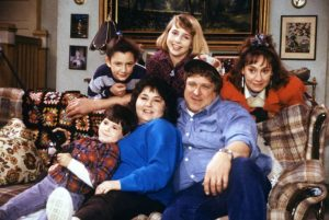 Roseanne; a rare working-class American sitcom