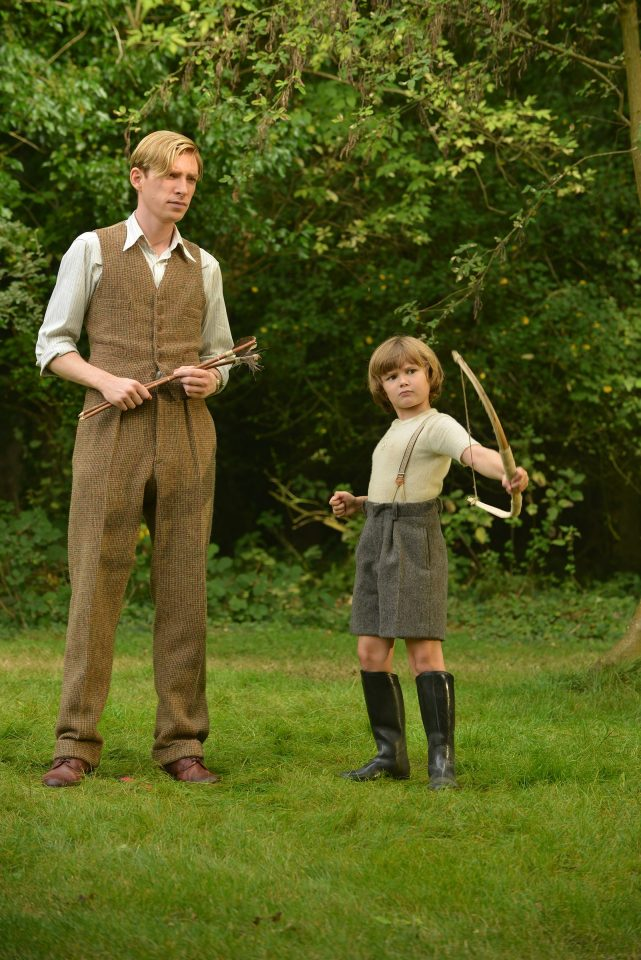 Domhnall-Gleeson-as-Alan-Milne-and-Will-Tilston-as-Christopher-Robin-Milne-in-the-film-UNTITLED-A.A.-MILNE.-Photo-by-David-Appleby.