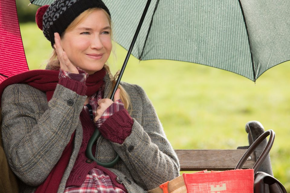 "RENEE ZELLWEGER in ""Bridget Jones's Baby."" Oscar® winners Renée Zellweger and Colin Firth are joined by Patrick Dempsey for the next chapter of the world's favorite singleton who finds herself unexpectedly expecting."