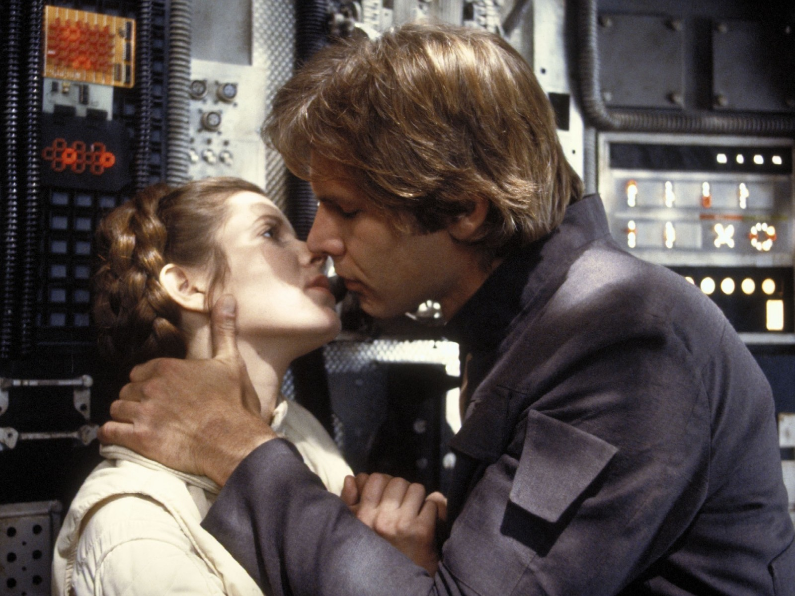 Han and Leia were quite the couple in the original Star Wars films.