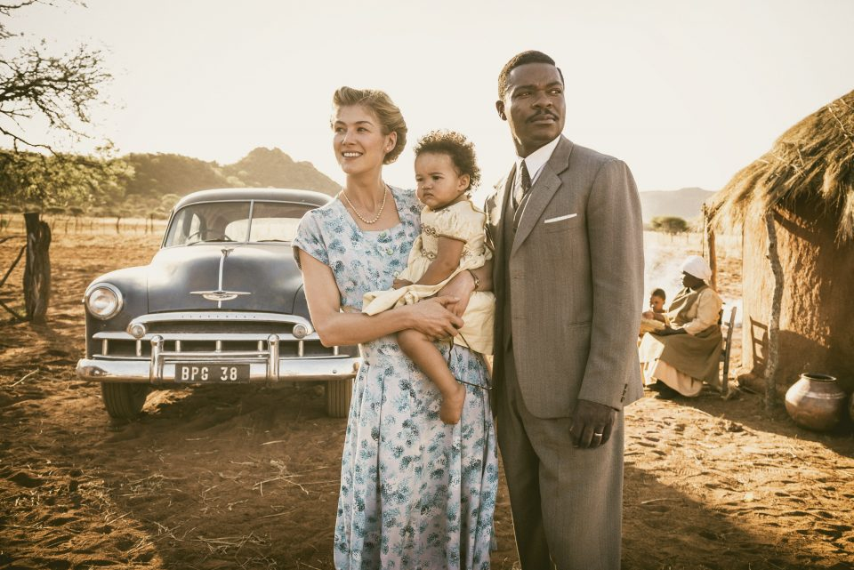 Rosamund Pike (Ruth) and David Oyelowo (Seretse) in A UNITED KINGDOM