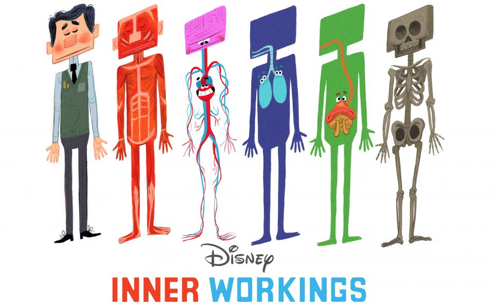 INNER WORKINGS - PAUL layered visual development by Production Designer Paul Felix. ©2016 Disney. All Rights Reserved.
