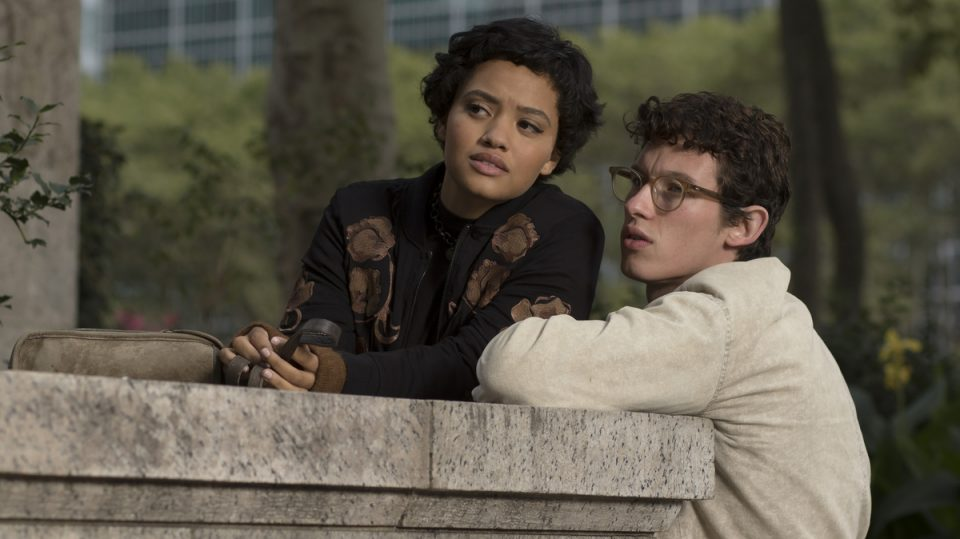 Kiersey Clemons and Callum Turner in The Only Living Boy in New York.